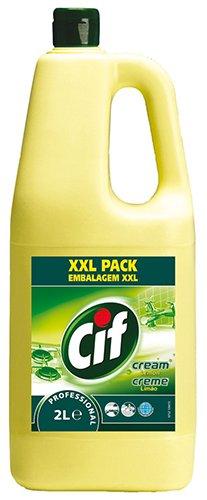 CIF Cream Lemon Professional, Creme-Reiniger mit Zitrusduft - 6X 2 Liter