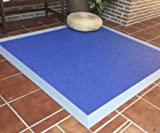 GleeGrass Alfombra TEPLON VINILICA Fresh Azul Cielo-Plata (140 x 200 cm)
