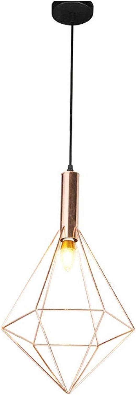 HN lumièreing Lustre en Fer Vent Industriel Pendentif Simple lumière Creuse Plafond éclairage personnalité Restaurant Or Rose accrocher luminaire
