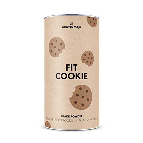 Natural Mojo Fit Cookie – Fit Shake (500 g) – Shake mit wertvollen Superfoods – leckerer Drink aus leicht löslichem Eiweißpulver – mit Cookie-Geschmack