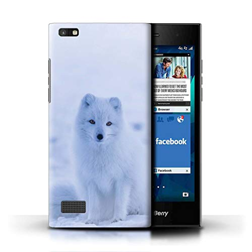 Hülle Für BlackBerry Leap Süß Baby Tier Fotos Weißer Polarfuchs Welpe Design Transparent Ultra Dünn Klar Hart Schutz Handyhülle Hülle