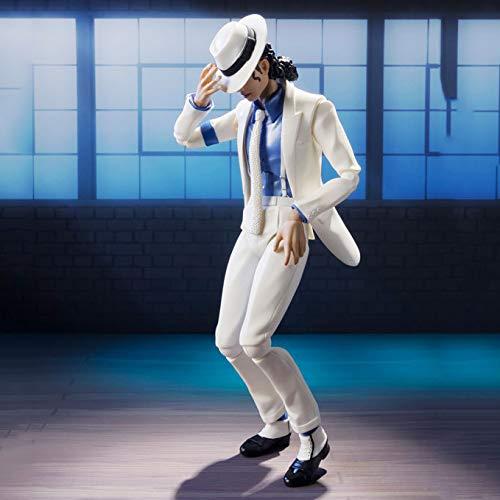 XUEMEI Caracteres 15CM-Michael Jackson Figura De Acción De La Estatua Modelo Animado Escultura De Recuerdo De Marionetas Juguetes Artesanías Decoración Michael Jackson