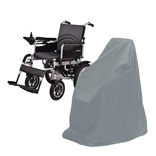 Rollstuhlabdeckung Vollständige Abdeckung, Elektro-Rollstuhl Staubschutz, Wasserdicht Sonnencreme mit Kordelzug, 115 x 75 x 130 cm