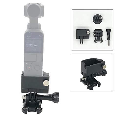 Linghuang CNC Aluminium Adapter für DJI Osmo Pocket Kamera, auf 1/4 Zoll Stativ Einbeinstativ Selfie Stick Halterung Zubehör Action Camera Accessory