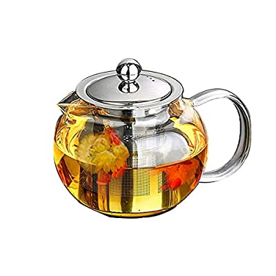 APONTS Good Glass Teapot with Removable Infuser, Stovetop Safe Tea Kettle, Blooming and Loose Leaf Tea Maker Set. (32oz/950ml)