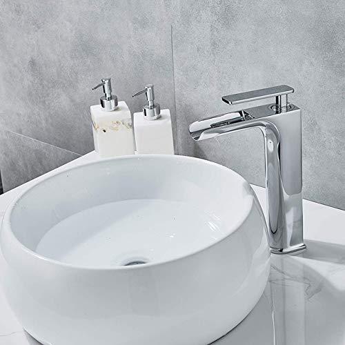 G0000D - Grifo para lavabo de baño, color bronce y negro