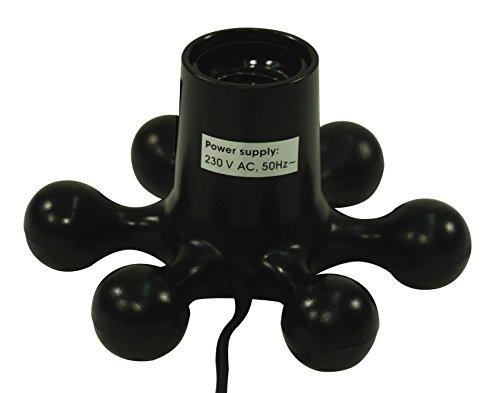 EUROLITE Hexopus Fassung schwarz | Auffällige Design-Fassung für 60 W Lampe | E27 Sockel | Mit ON/OFF Schalter am Netzkabel