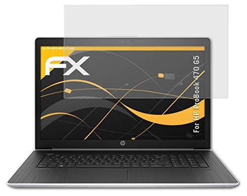 atFolix Panzerfolie kompatibel mit HP ProBook 470 G5 Schutzfolie, entspiegelnde & stoßdämpfende FX Folie (2X)