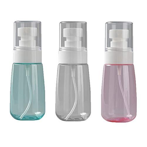 LDD 60ml Petite Bouteille Vide Transparent pulvérisation Fine Brume Bouteille en Plastique Vaporiser Alcool Liquide Distributeur Voyage Set Liquide Container