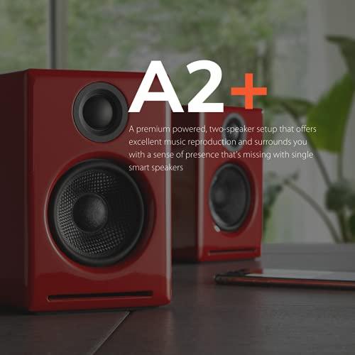 Audioengine A2+ Plus Wireless Speaker Bluetooth   Desktop Monitor Speakers   Home Music System aptX Bluetooth, 60W Powered Bookshelf...