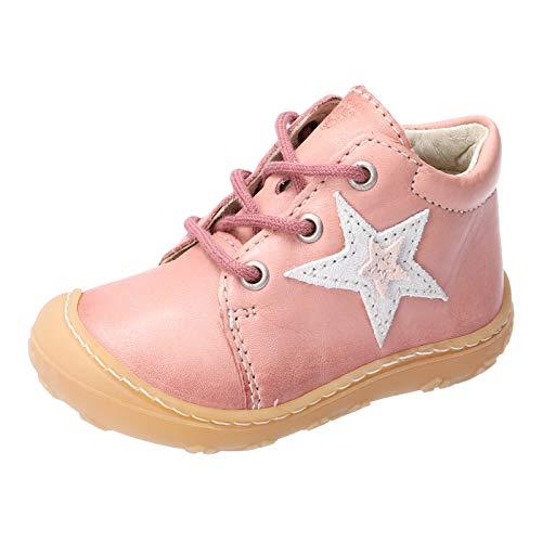 RICOSTA Kinder Stiefel Romy von Pepino, Weite: Mittel (WMS), detailreich Freizeit Boots schnürstiefel Leder Kinder Kids,Rose,22 EU / 5.5 Child UK