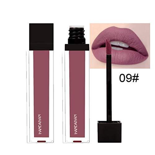 Tefmaore Maquillaje a prueba de agua de Larga Duración Líquido Lápiz Labial Maquillaje Mate Labial Brillo Labial (I)