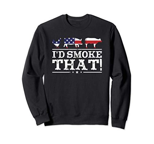 面白いBBQシャツ 「私はその肉を燻製するよ!」ピットマスター グリル ギフト トレーナー