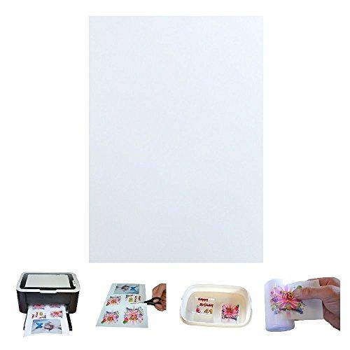 TrendLight 861131-4 Fototransferpapier für Kerzen inklusive Anleitung, 4 Blätter A4, 210 x 297 mm