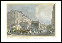 1831ロンドン - ホルボーン橋からのフリートマーケットのアンティークプリントビュー(147)