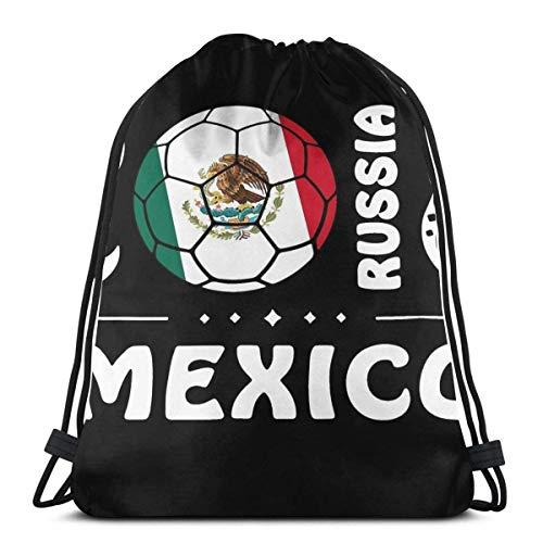 NotApplicable Cinch-Taschen Mexiko Fußball Trikot Mexiko Sporttasche Weihnachten Druck Outdoor-Sportarten Casual Reisegeschenke Leichte Geburtstag Cinch Taschen Frauen Männer Kordelzug Rucksack