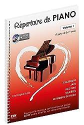 Répertoire de Piano Volume 1 + CD - Christophe Astié