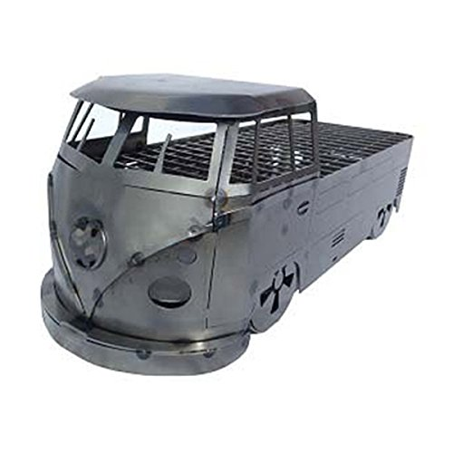 www.ChickenShedCreations.co.uk Busbecue Split Screen Camper Portable Barbecue (Pickup, Clear Finish)