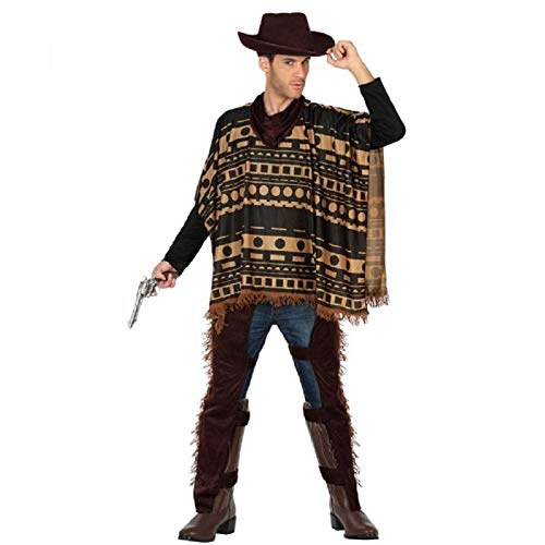 Atosa-29017 Cowboy Disfraz Vaquero Xl, color marrn, (29017)