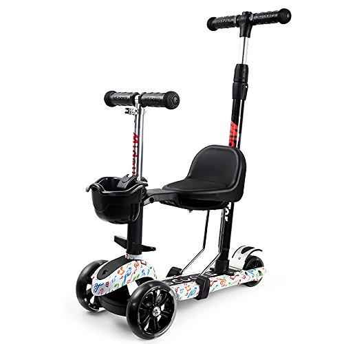 WAWDZG Abschnitt DREI In Einem Multifunktionalen Leitplanke Große Kinderroller Sit Sitz Radschlupf Kann Breit Push for Anfänger Skateboard-Upgrade 1-3 Kinderwagen (Color : 3)