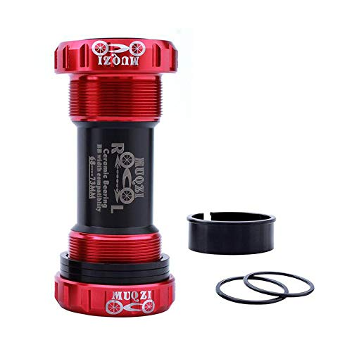 VOANZO Red Mountain Bike 68-73mm Bottom Bracket Shell Thread BC1.37 Type Crankset Ceramic Bearings Integrated Bike Central Axle