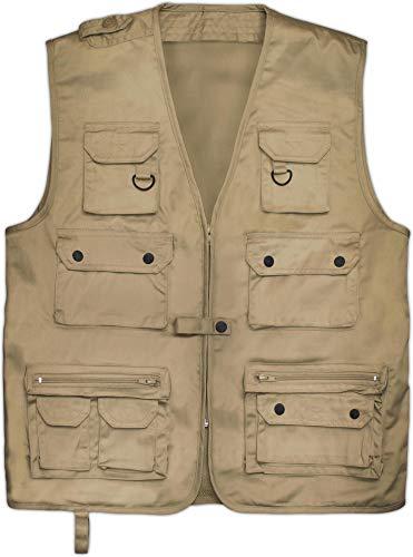 normani Outdoor Jagd- Angler Weste mit vielen praktischen Taschen� Farbe Khaki Größe 5XL