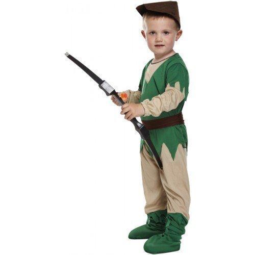 Fancy Me 4 Stück Kleinkind Mädchen Jungen Kinder Kinder Robin Hood Mittelalterlich Halloween Büchertag Kostüm Kleid Outfit 3 Jahre