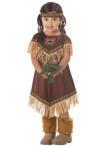 California Costumes Girls Lil' Indian Princess Toddler Costume Brown, Toddler Large 4-6