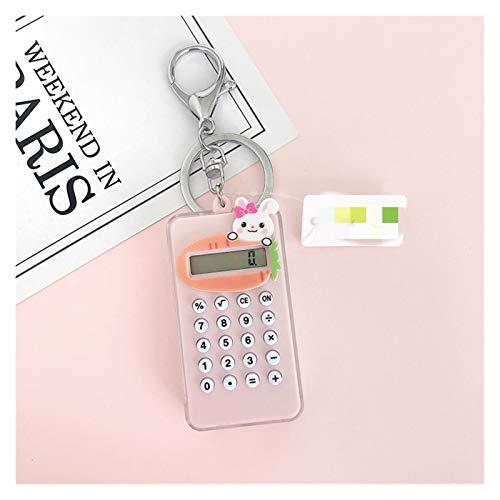Yinyimei Schlüsselanhänger Student Nette bewegliche Minirechner Schlüsselanhänger Super dünne Rechner Taschenrechner Bell-Schlüsselanhänger (Color : Grey)