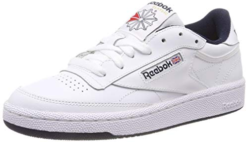 Reebok Herren Club C 85 Sneakers, Weiß (Intense White / Navy), 45 EU