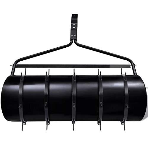 Wakects 5 Aireadores, Rodillo Aireador de Césped con púas Negro Diámetro 30 cm Longitud de la Púa 6 cm(Rodillo no Incluido)