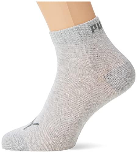 PUMA Plain 3P Quarter Socke, Grau (Anthrazit/L Mel Grey/M Mel Grey), 43-46