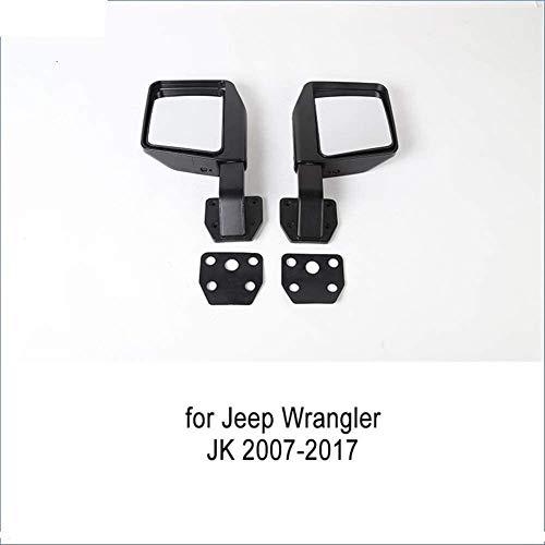 HSG Ersatzspiegelverkleidung for Jeep Wrangler YJ TJ JK JL 1987-2019 blinden Punkt-Spiegel-Zubehör Auto-Seitenrückspiegel 710 (Color : A3 for JK)