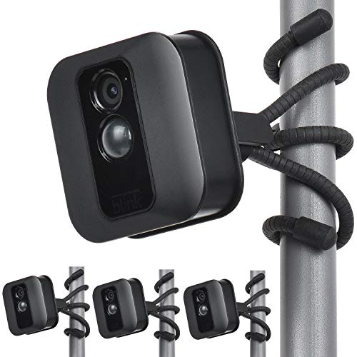 Uogw 3 Pack Flexible Tripod for Blink XT,Blink XT2,Blink Mini,All-New Blink Outdoor,Wall Mount Bracket,Attach Your Blink Home Security Camera Everywhere - Black