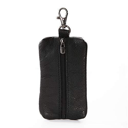 quanjucheer Simili Cuir Key Holder Wallet Pouch rétro Coque clé Sac Organiseur pour boitier de clé de Voiture Noir