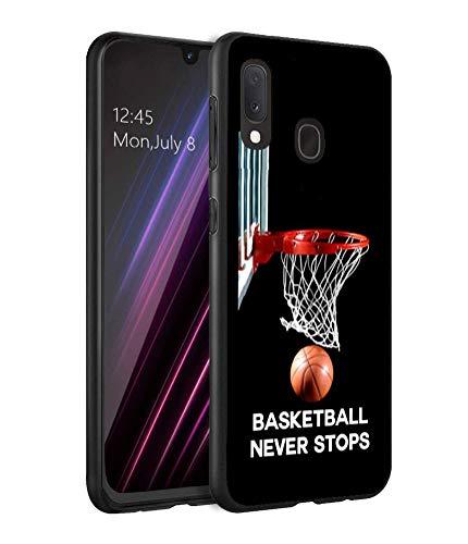 Galaxy A10E Case, Galaxy A20E Case, LOWORO Premium TPU Slim Shockproof Rubber Protective Case Cover for Samsung Galaxy A10E (2019) / A20E (2019), Basketball Never Stops