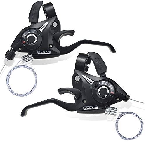 BESNIN V Brake Gear Lever Schalthebel Bremshebel 1 Paar 3x7 21speed/3x8 24Speed Fahrrad Shifter für Mountainbike Faltrad Universal Ersatzteil (3x7 Speed)