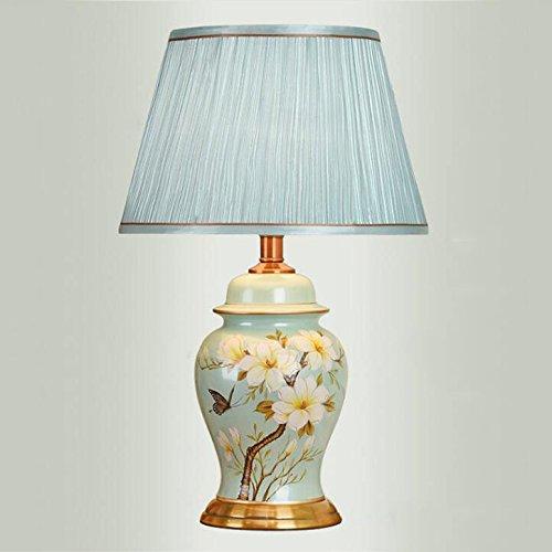 HZS Lámpara de Mesa Europea Lámpara de Noche del Dormitorio Belleza Creativa Lámpara de cerámica Sencilla y cálida (Color : A)