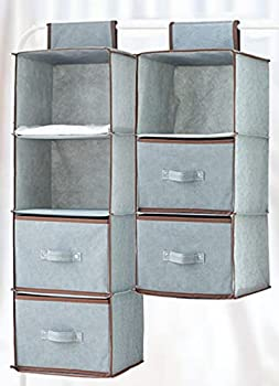 Under Bed Shoe Storage Organizers ,2 Pack Fit 24 Pairs Underbed Shoe Storage Containers Box Bags with Clear Cover ,Reinforced Handles ,Sturdy zippers,Breathable Fabric Grey Set of 2
