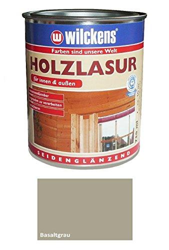 Wilckens 2,5 L. Holzlasur Innen & Außen, wasserverdünnbar, Basaltgrau Seidenglänzend