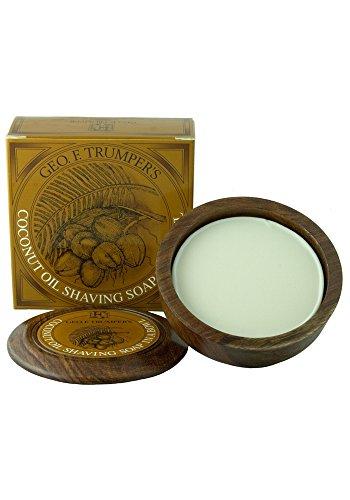 GEO F Trumper Holz Rasieren Schüssel–Coconut (empfindliche/trockene Haut)