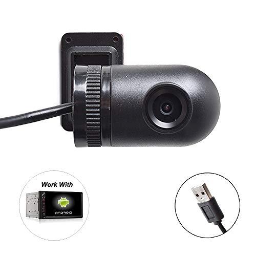 Auto USB DVR Dash Kamera, 720P HD Dashcam Autokamera für Android 4.2-10.1, 170° Weitwinkelobjektiv 360 Grad Auf/Ab-Neigungsobjektiv Dash Cam für Auto GPS Navi In-Dash Radio Stereo System