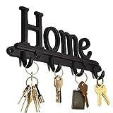 Ganchos decorativos de hierro fundido para colgar llaves – Decoración del hogar – Cuatro ganchos para colgar – Ganchos para sombrero, bolsa, perchero para abrigos, gancho para toallas,...