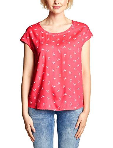 Cecil Damen 341389 Bluse, neo Coralline red, X-Large (Herstellergröße:XL)