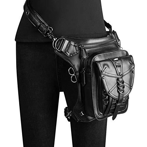 CVBGH Bolso Multifuncional De La Cintura De La Motocicleta De Las Señoras del Bolso del Mensajero del Cuero De La PU De Steampunk