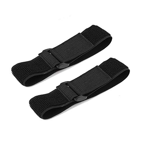 JKJF Cycling Safety Bind Pant Leg Bands Clip Strap Riding Fishing Elastic Ankle Leg Trousers Bind Pants Adjustable Magic Fastening Belt (15 inch Length, 1.5 inch Width, 2 Pcs)