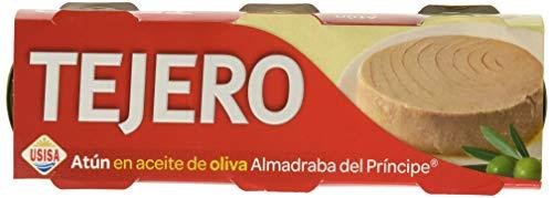 Tejero - Conserva de Pescado | Atún de Almadraba en Aceite de Oliva - 8 Unidades (3 x 52 g)