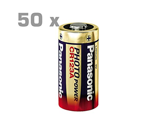 50 Stück PANASONIC Photo Lithium Batterie CR123 Photo Power