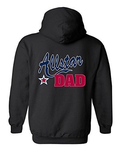 Men's/Unisex Zip-Up Hoodie Father's Day Allstar Dad BLACK (Large)