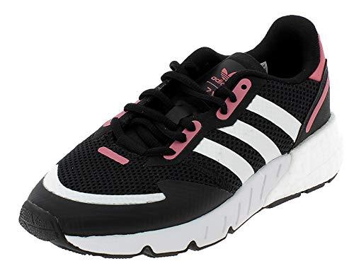 adidas ZX 1K Boost W, Zapatillas de Running Mujer, Core Black FTWR White Hazy Rose, 39 1/3 EU